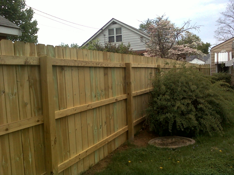 6 High Pressure Treated Dog Ear Privacy Fence